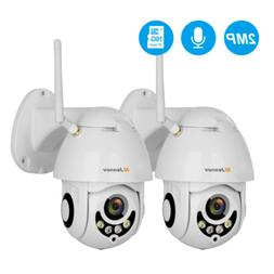 2pcs 4xZoom PTZ IP Camera 2MP Wireless Security WIFI Audio D