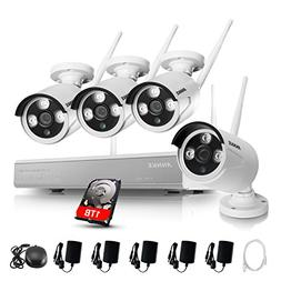 ANNKE 4CH 960P HD Wireless Security WIFI NVR Kits with 1TB H