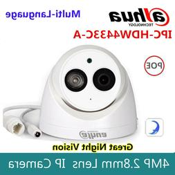 Dahua 4MP IPC-HDW4433C-A HD Dome Network IP Camera Built-in