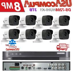 Hikvision 8 Cameras Security System KIT 2TB HDD 8 Mini-Dome