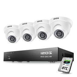 4 Channel 1080p NVR 2 HD 2MP Outdoor WiFi Wireless Security