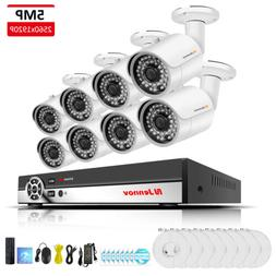 8 Channel HD NVR POE Security System 5MP CCTV Outdoor Wired
