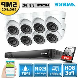 ANNKE 8CH 4K 8MP NVR Ultra HD 5MP POE Security IP Camera Sys
