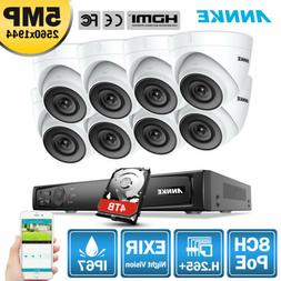 ANNKE 8MP 4K 8CH POE NVR Outdoor 5MP Security IP Camera Syst