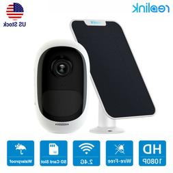 Wireless Security IP Camera HD 1080P Rechargeable+ Solar Pan