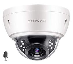 【Audio】 ONWOTE 5MP HD IP POE Security Camera Outdoor Dom