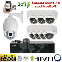 8 Channel 1920P IP Outdoor / Indoor NVR Security Camera Syst