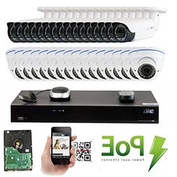 GW Security 32CH 5 Megapixel 1920P Video Home Security Camer