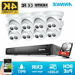 ANNKE H.265+ 4K POE 8CH NVR Outdoor 8MP Video Security Camer