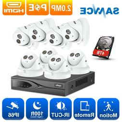 SANNCE HD 1080P 8CH NVR POE CCTV 2MP Security IP Camera Syst