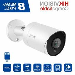 Hikvision Compatible Anpviz 4K H.265 POE IP Camera Audio/Mi
