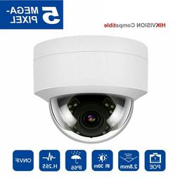 Hikvision Compatible Onvif IP Camera POE 5MP Dome Audio H.26