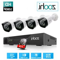 Home 4CH DVR IP 1080P HD Security Camera System Outdoor IR N