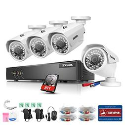ANNKE 1080P 720P Home Security Surveillance Camera System wi
