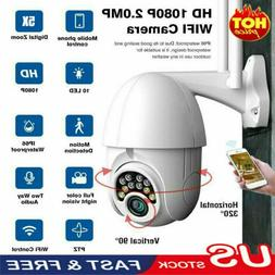 IP66 HD 1080P WI-FI IP Camera Wireless PTZ Outdoor CCTV Home
