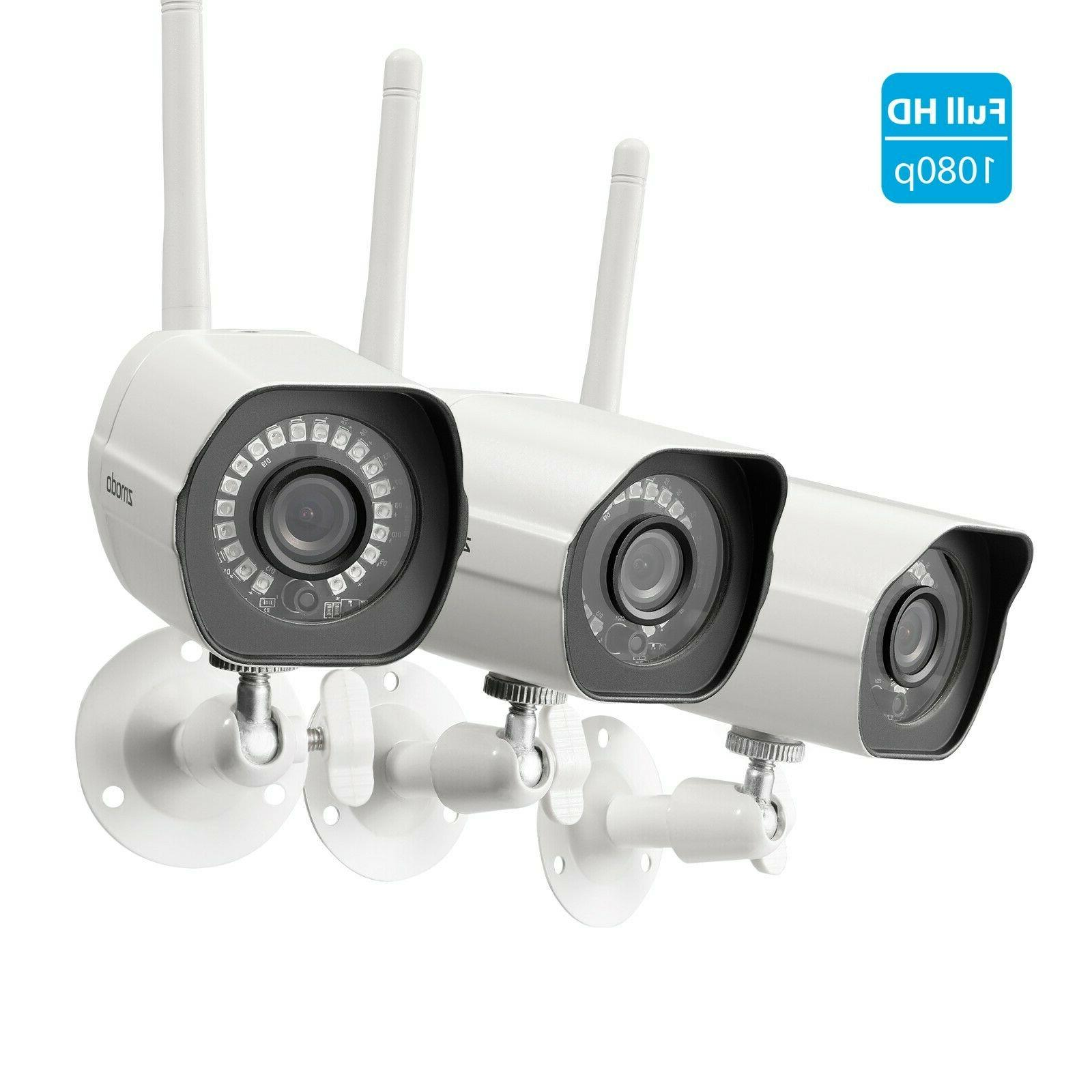 1080p security ip camera system 3 pack