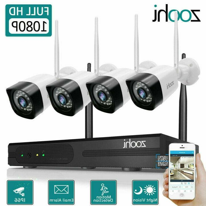 8ch 1080p security camera system wireless