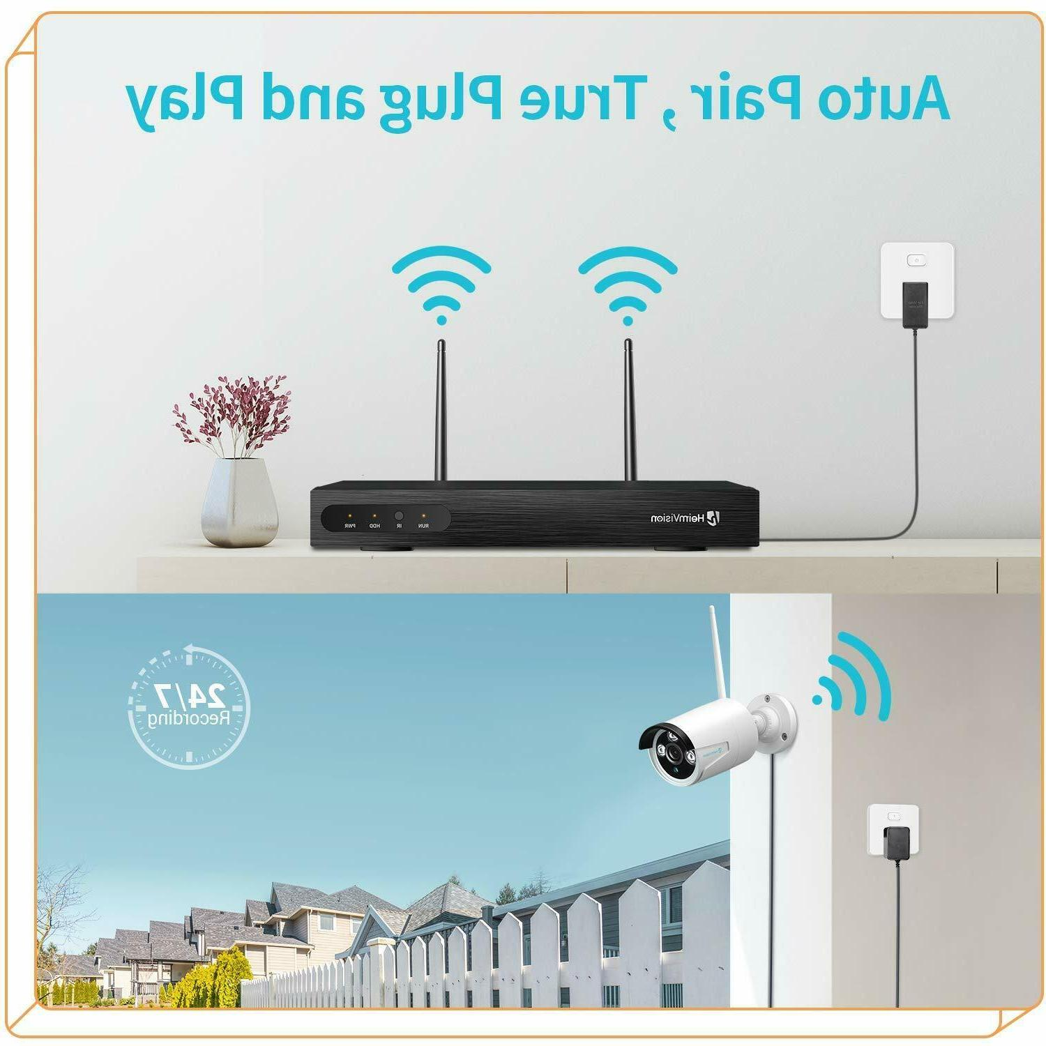 8CH Security Camera Wireless Kit Outdoor