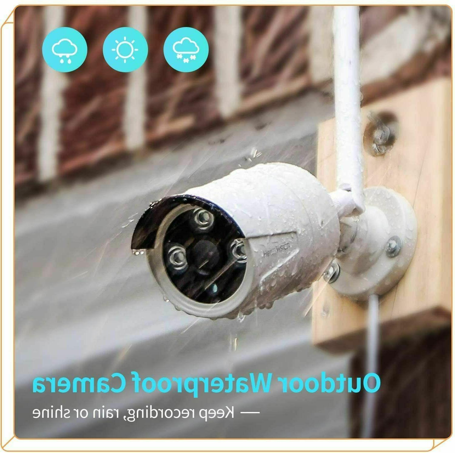 8CH 1080p Security IP Camera Wireless 2MP NVR Kit Outdoor