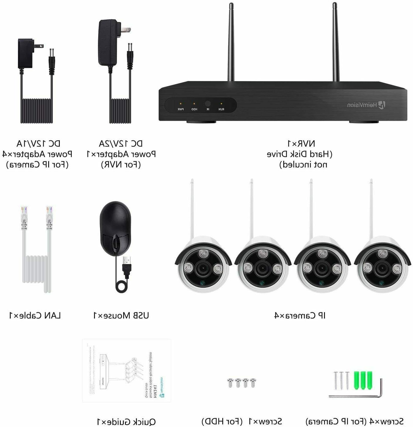 8CH Security Wireless 2MP WIFI Kit Outdoor