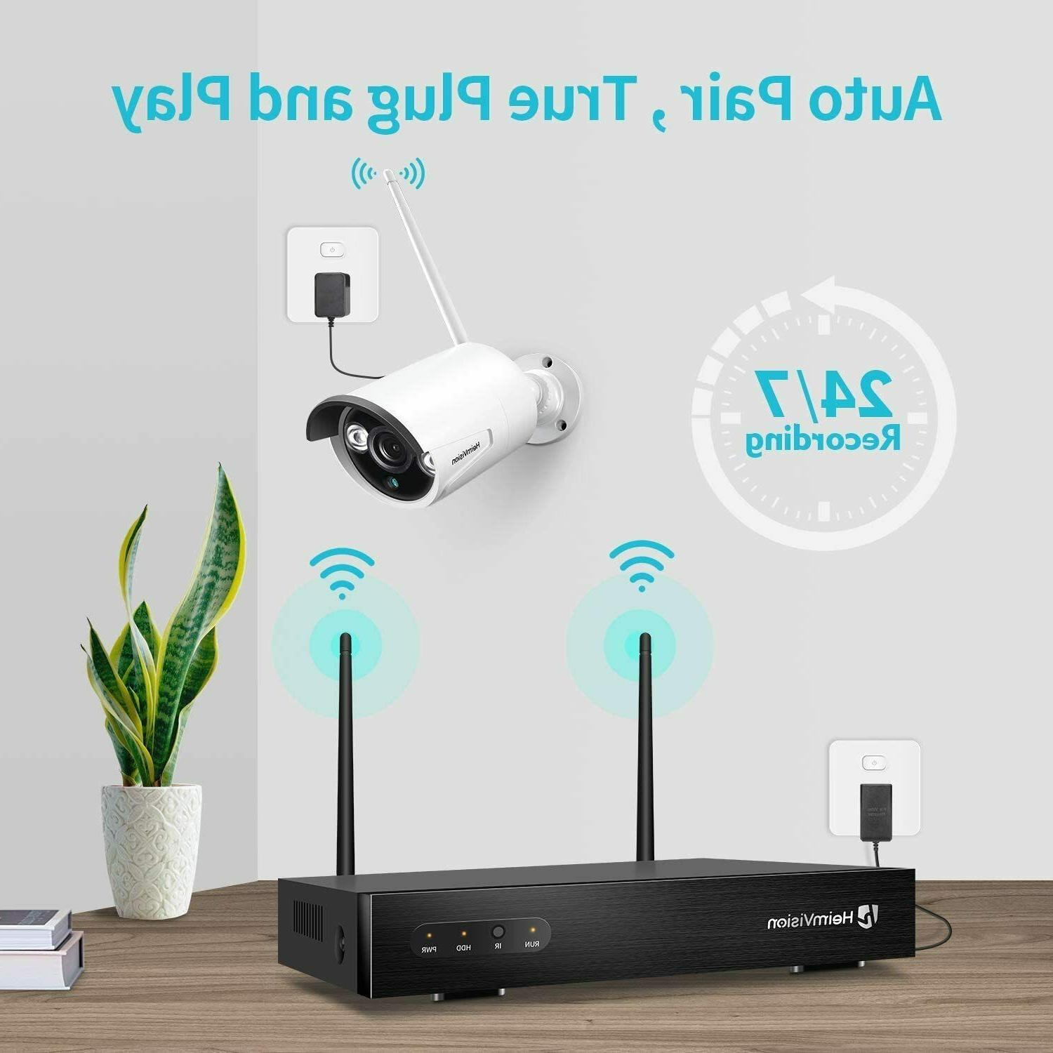 8CH Security IP Wireless 2MP NVR Kit Outdoor