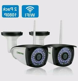 New 2 Pack WiFi Outdoor Camera SV3C 1080P HD Two Way Audio S
