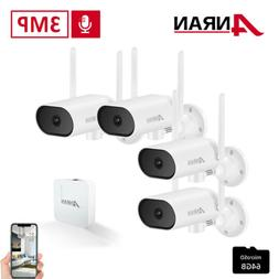 """Outdoor Wireless Security System IP Camera with 7"""" Monitor H"""