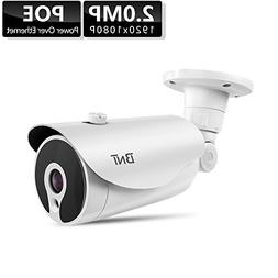 BNT 1080P PoE IP Camera, Support H.265 Onvif 7/24 Monitoring