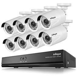 SANNCE Full HD 1080p PoE Security Camera System and Eight 2.