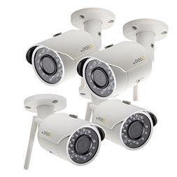 Q-See QCW3MP1B16-4 | Four 1080p HD Wi-Fi Bullet Security Cam