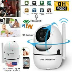 Security Camera HD 1080P WiFi IP In/Outdoor Home Monitor Nig