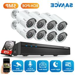 SANNCE Ultra HD 5MP Security IP Camera System 8CH NVR Home M