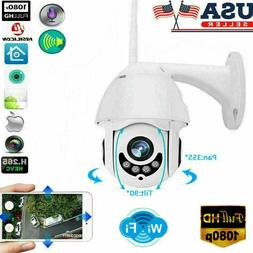 US Wireless HD 1080P WiFi 5X ZOOM CCTV Outdoor IP Home Secur