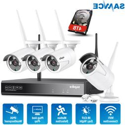 SANNCE 4CH 1080P NVR Wireless CCTV Security IP Camera System
