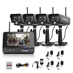 ANNKE Wireless Security Camera System with 7inch Monitor and