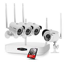 ANNKE HD 960p NVR Wireless Security Camera System with 1TB H