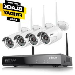 SANNCE Wireless Wifi 8CH H.264+NVR 1080P CCTV IP Camera Home